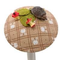 Herbstlicher Fascinator mit Igel und Apfel