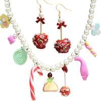 Set: Sweets - Collier & Liebesapfel - Ohrringe