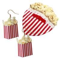Set: Popcorn - Earrings & Fascinator