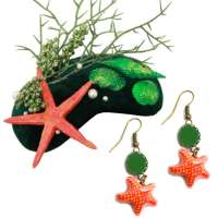 Set: under the sea - Starfish earrings & Fascinator