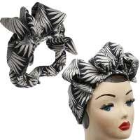 Easy Turban mit Palmenwedeln - vorgebunden, mit viel Volumen
