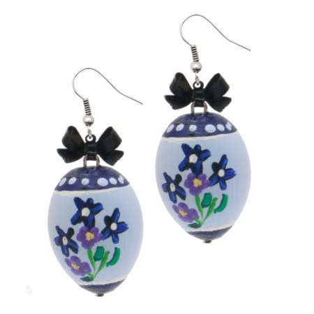 earrings easter egg blue