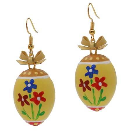 earrings easter egg gelb