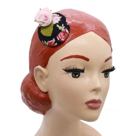 Minifascinator in black with pink roses