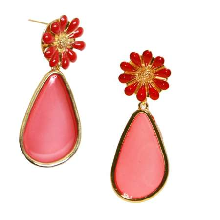 Tranzparenzia in red - Vintage style earrings -