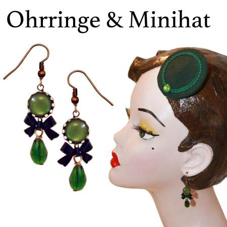 Set Mini-Fascinator & Ohrringe
