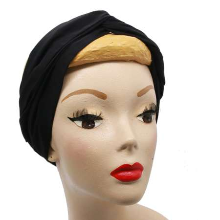 Black turban hair band with wire