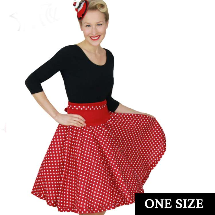 Dotty - swing skirt  one size