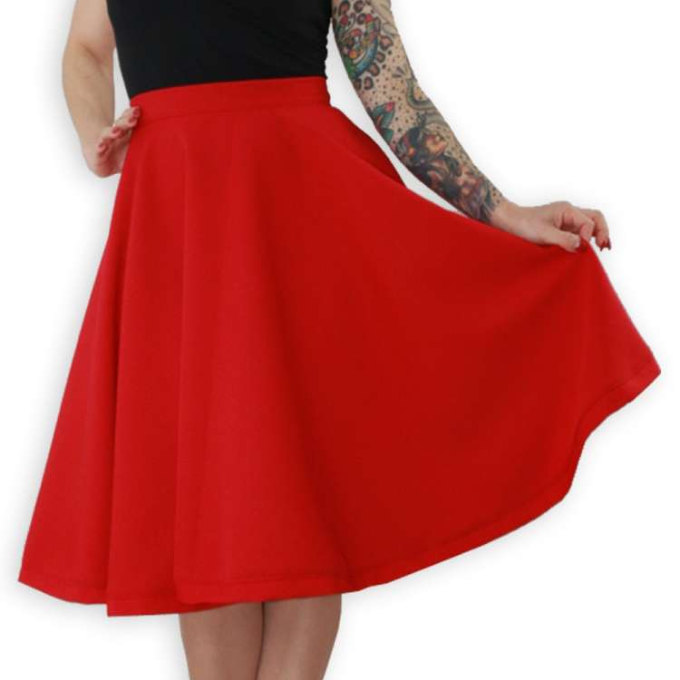 swing skirt red vintage rockabilly