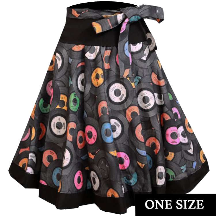 Circle skirt with records - one size