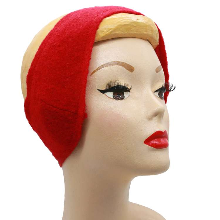 red earwarmers vintage winter