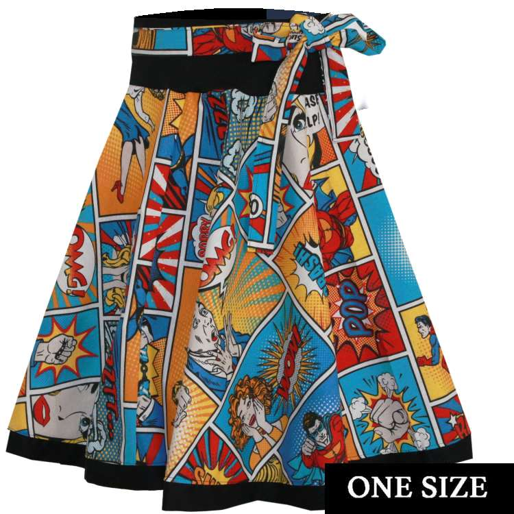 Tellerrock comic bunt superheld rockabilly vintage one size