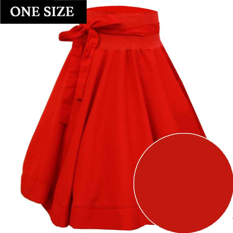swing  skirt red vintage one size rockabilly