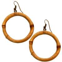 Bamboo Rings - earrings