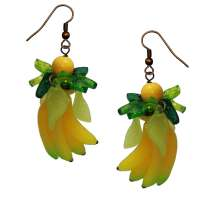 Bananas and leaves - earrings