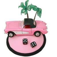 Pink Corvette - Fascinator mit Auto