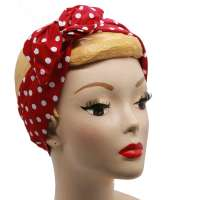 Dots red white - Hair band with wire