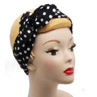 Polka dots black/white - hairband with wire