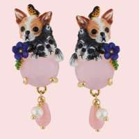 Chihuahua - earrings from Les Néréides