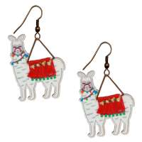 Earrings with alpacas