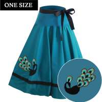 Peacock - swing skirt - one size