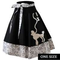 White poodle - swing skirt one size