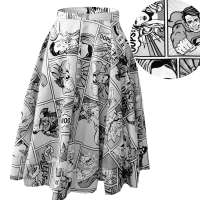 Superheroine swing skirt - Custom-made