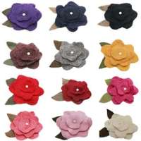 flower clip for earwarmers