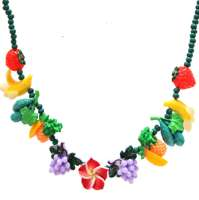 Necklace with many fruits