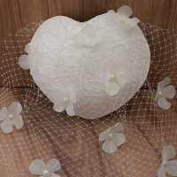 Forever: bridal fascinator in heart shape with lace and veil