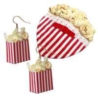 Set: Popcorn - Ohrringe & Fascinator