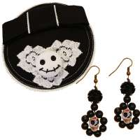 Set: Sugar Skull Ohrringe & Fascinator
