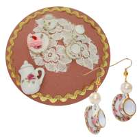 Set 'Teatime' Tassen - Ohrringe & Fascinator