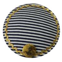 Blue & White Striped & Maritime Fascinator