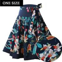 Blue orchid - swing skirt one size