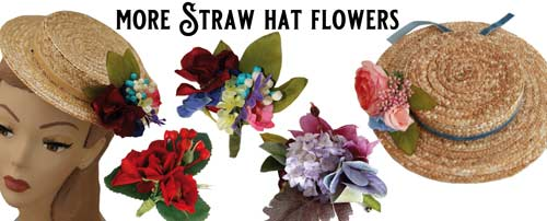 flowers for straw hats